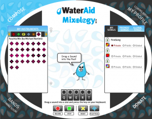 WaterAid Mixology Screenshot